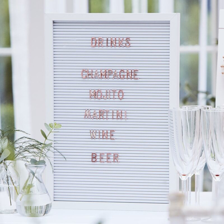 Picture of Ginger Ray® Large White Letter Pegboard