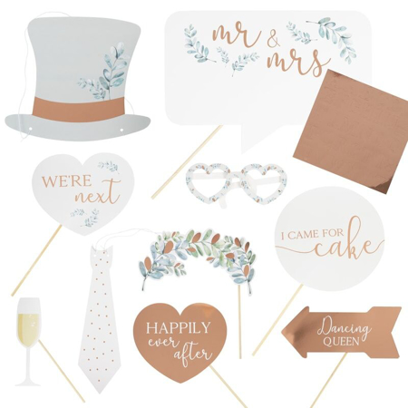 Picture of Ginger Ray® Photo Booth Props Botanical Wedding