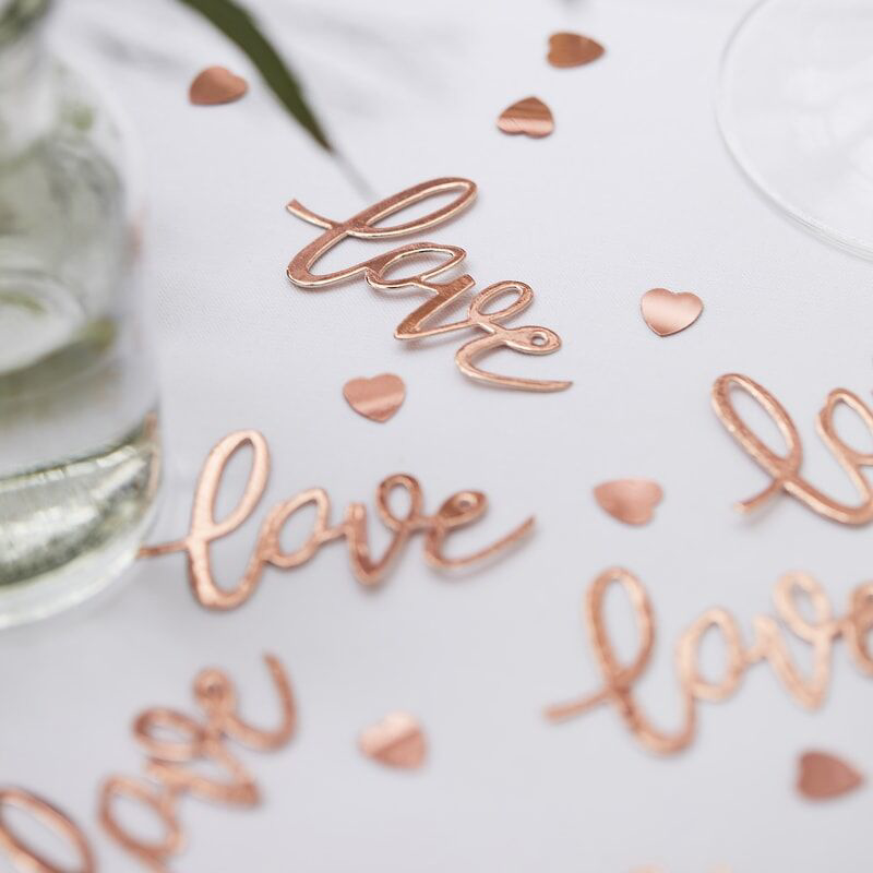 Picture of Ginger Ray® Rose Gold Love Confetti