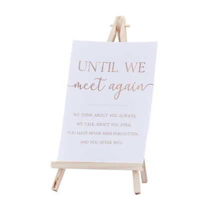 Picture of Ginger Ray® Commenorative Sign & Easel