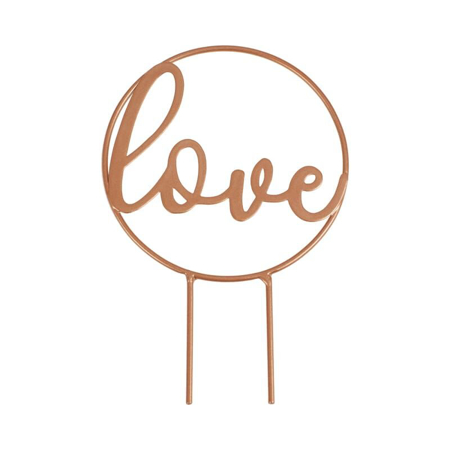 Picture of Ginger Ray® Love Script Rose Gold Wedding Cake Topper