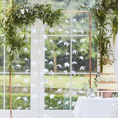 Picture of Ginger Ray® White Origami Flower Wedding Backdrop