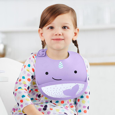 Picture of Skip Hop® Silicone Bib Narwhal