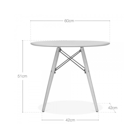 Picture of EM Scandinavian Inspired Kid's Table Grey