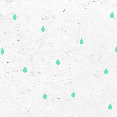 Picture of Pick Art Design® Wall Sticker Raindrops Mint