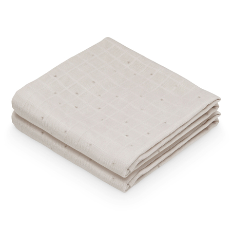 Picture of CamCam® Musling Cloth Etoile Sand 2pack (70x70)