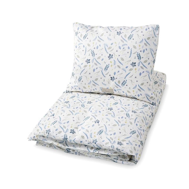Picture of CamCam® Danish Junior Bedding Pressed Leaves Blue (100x140;45x40)