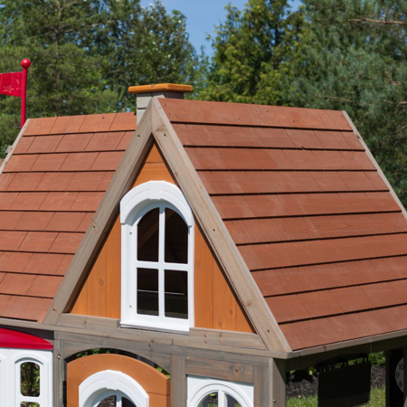 Picture of KidKraft® Greystone Cottage Playhouse with EZ Kraft Assembly™