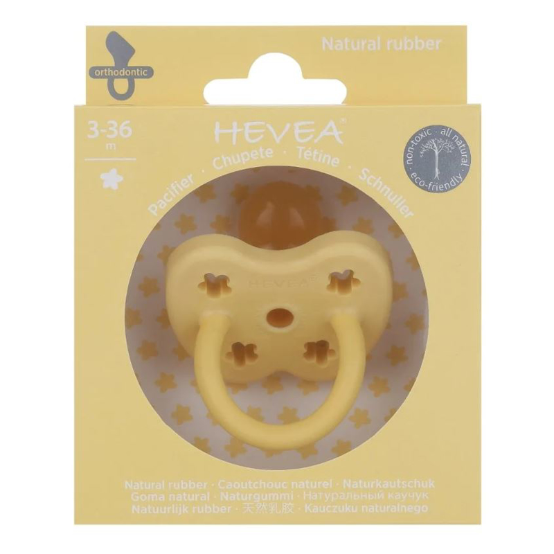 Picture of Hevea® Pacifier Orthodontic (3-36m) Banana