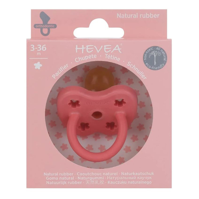 Picture of Hevea® Pacifier Orthodontic (3-36m) Coral