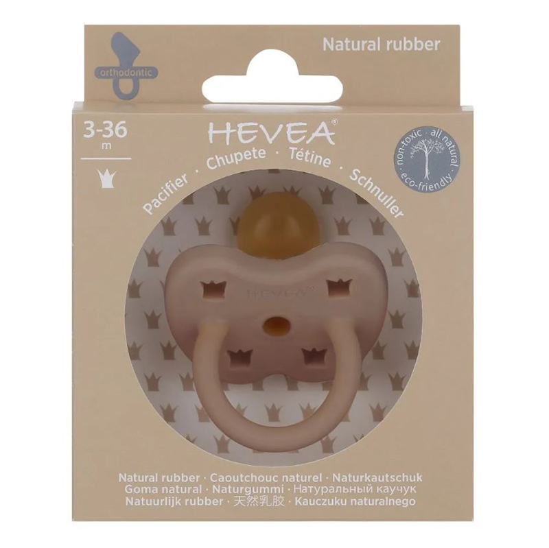 Picture of Hevea® Pacifier Orthodontic (3-36m) Fudge
