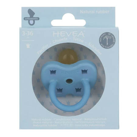 Picture of Hevea® Pacifier Orthodontic (3-36m) Sky Blue