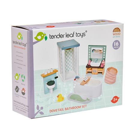 Picture of Tender Leaf Toys® Dolls House Bathroom Furniture