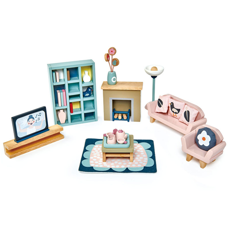 Picture of Tender Leaf Toys® Dolls House Sitting Room Furniture
