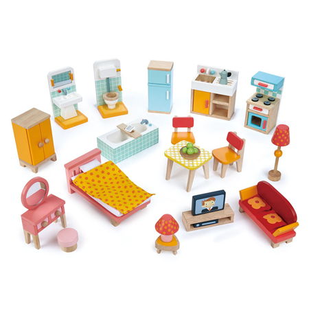 Picture of Tender Leaf Toys® Townhouse Furniture Set