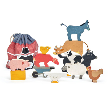 Picture of Tender Leaf Toys® Stacking Farmyard