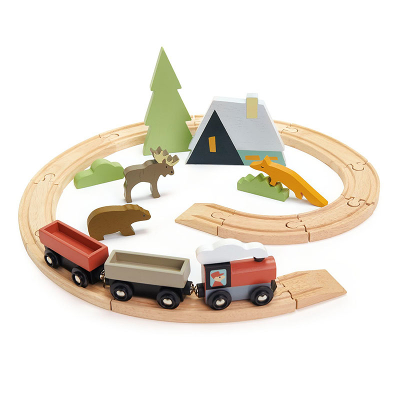 Picture of Tender Leaf Toys® Treetops Train Set
