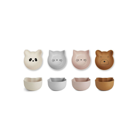Picture of Liewood® Rex Bamboo Snack Bowl 4 Pack - Rose mix