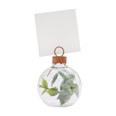 Ginger Ray® Eucalyptus Bauble Wedding Place Card Holders
