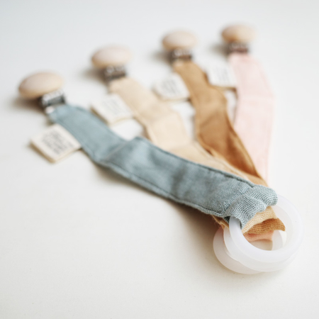 Picture of Konges Sløjd® Pacifier strap muslin - French Blue