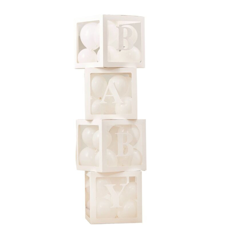 Picture of Ginger Ray® Pop Up Baby Blocks to Fill with White Balloons