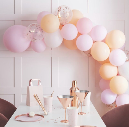 Picture of Ginger Ray® Hen Party Matte Balloon Arch Peach and Pink
