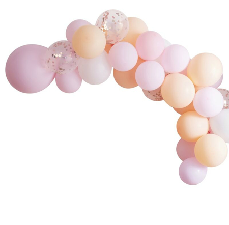 Ginger Ray® Hen Party Matte Balloon Arch Peach and Pink