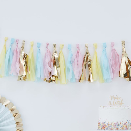 Picture of Ginger Ray® Tassel Garland - Pastel & Gold