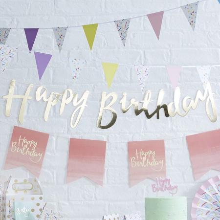 Ginger Ray® Gold Happy Birthday Bunting
