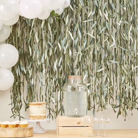 Picture of Ginger Ray® Leaf Ribbon Backdrop
