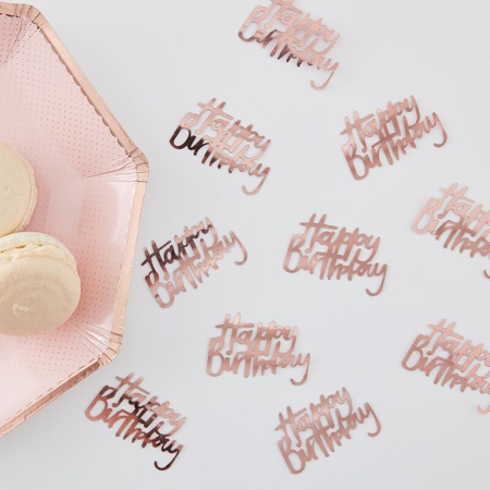 Picture of Ginger Ray® Rose Gold Happy birthday Confetti