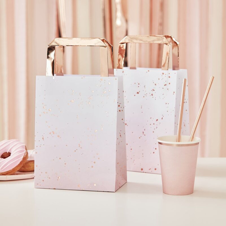 Ginger Ray® Rose Gold Foiled Pink Ombre Party Bags