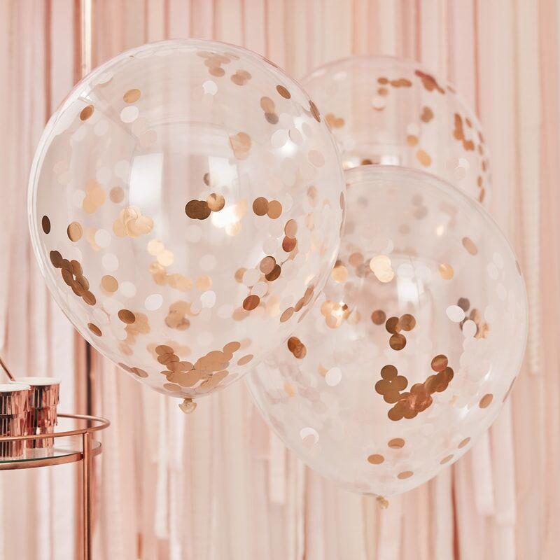 Picture of Ginger Ray® Giant Rose Gold And Blush Large Confetti Balloons