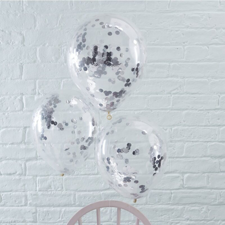 Picture of Ginger Ray® Silver Confetti Balloons