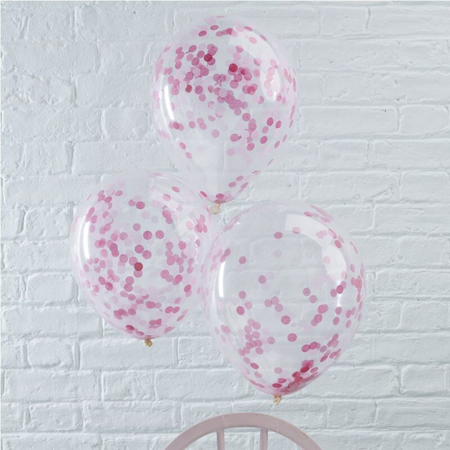 Picture of Ginger Ray® Pink Confetti Balloons