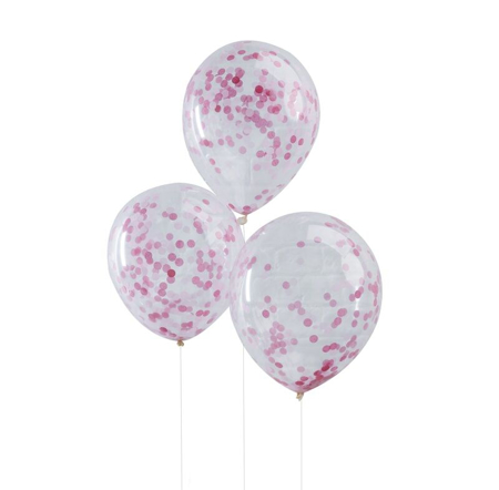 Ginger Ray® Pink Confetti Balloons