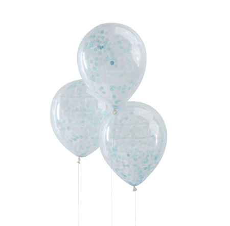 Ginger Ray® Blue Confetti Balloons