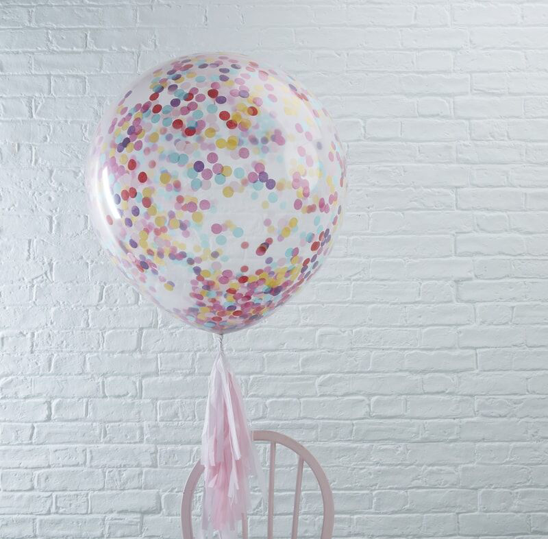 Picture of Ginger Ray® Giant Multicoloured Confetti Filled Balloons