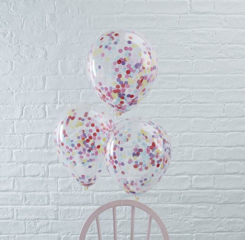 Picture of Ginger Ray® Blue Confetti Balloons