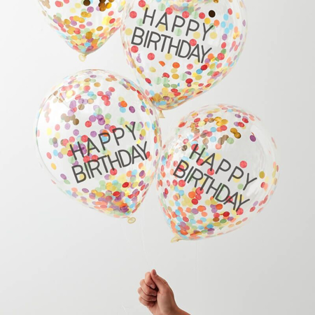 Picture of Ginger Ray® Rainbow Confetti Balloons