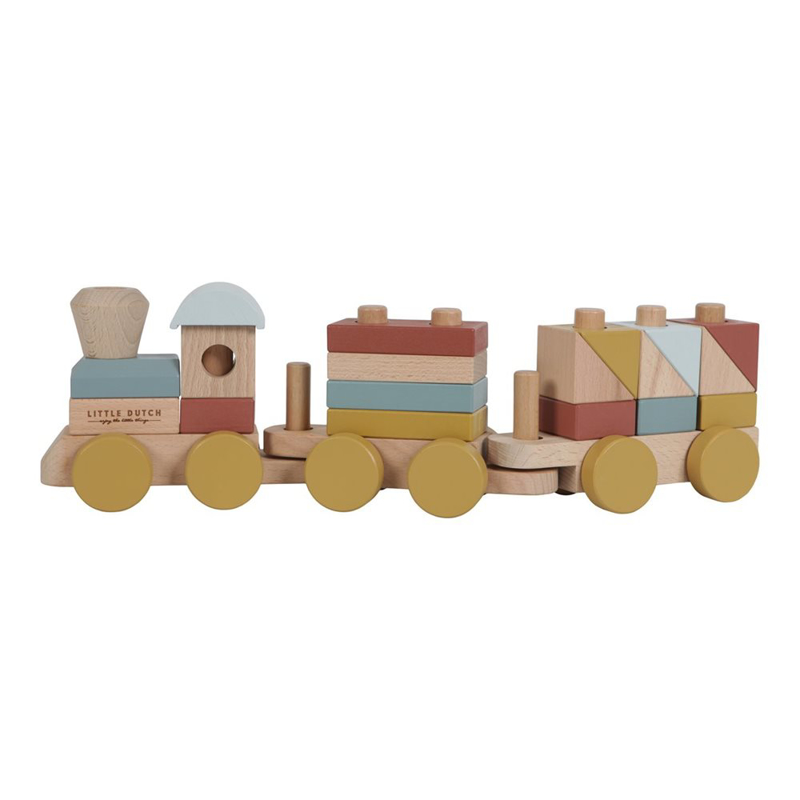 Picture of Little Dutch® Stacking train Pure & Natur