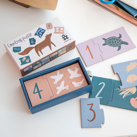 Picture of Sebra® Counting puzzle 1-10 Daydream