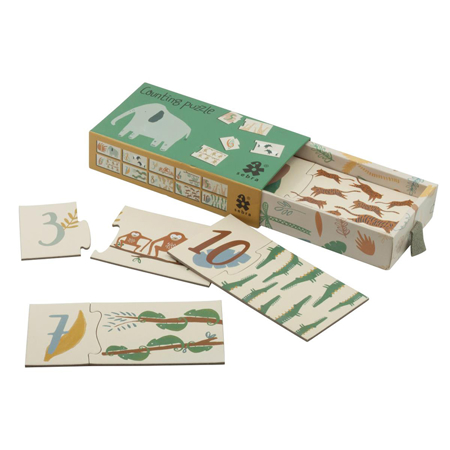 Picture of Sebra® Counting puzzle 1-10 Wildlife