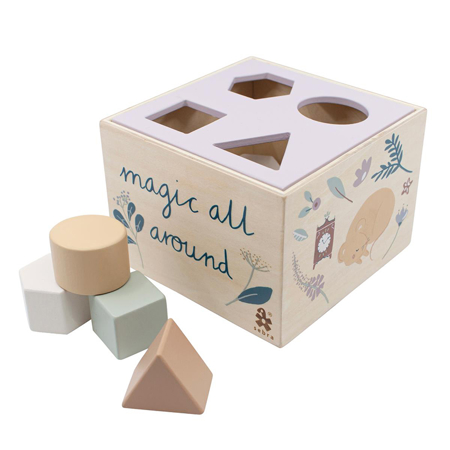 Picture of Sebra® Wooden shape sorter, Daydream