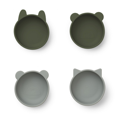 Picture of Liewood®  Iggy silicone bowls 4 pack Hunter Green Mix