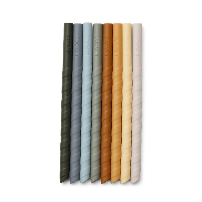 Picture of Liewood® Zoe Silicone Straw Set 8 Pack - Blue Multi Mix