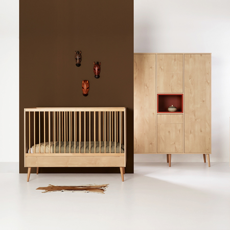 Picture of Quax® Cocoon Baby Bed 120x60 Natural Oak