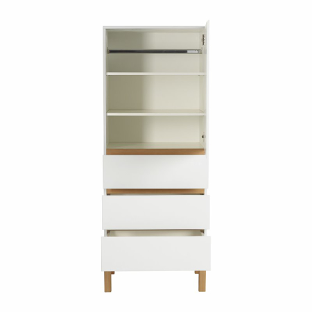 Picture of Quax® Wardrobe 1 Door + 3 Drawers Indigo White