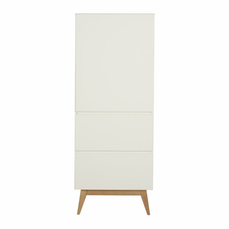 Picture of Quax® Wardrobe 1 Door + 2 Drawers Trendy White
