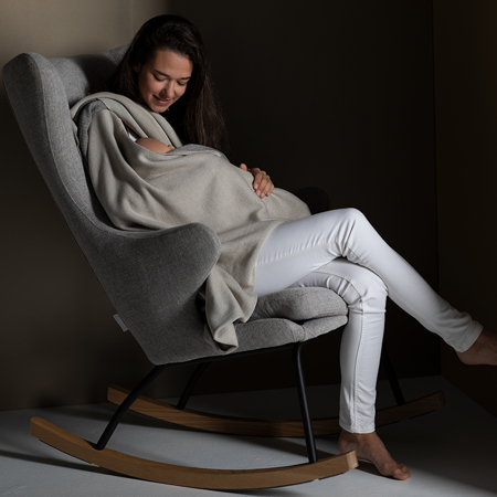 Picture of Quax® Rocking Adult Chair De Luxe Sand Grey